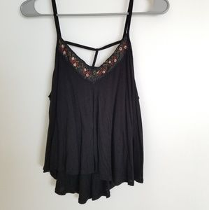 Caged Flower Tank Top